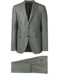 Tagliatore Zweiteiliger Anzug mit Streifen - Grau
