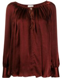 Forte Forte Tie Neck Fitted Cuff Blouse - Brown