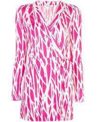 Diane von Furstenberg - Patterned Mini Dress - Lyst