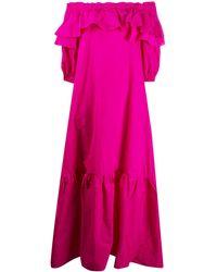 P.A.R.O.S.H. ラッフル オーバーサイズ ドレス - ピンク