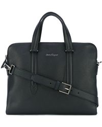 Ferragamo ビジネスバッグ - ブラック