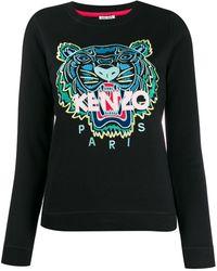KENZO Sweater Met Tijger Logo - Zwart