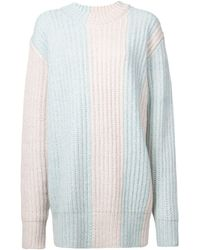 CALVIN KLEIN 205W39NYC Knitted Sweater - ブルー