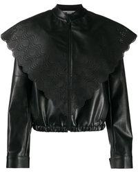 Stella McCartney Куртка Из Искусственной Кожи С Перфорацией - Черный