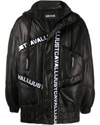 Just Cavalli ロゴ パデッドジャケット - ブラック