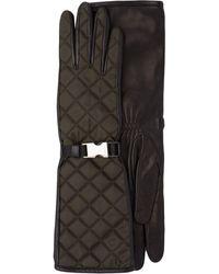 Prada キルティング 手袋 - ブラック