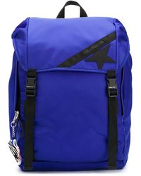 Golden Goose Deluxe Brand Logo Patch Backpack - Blue