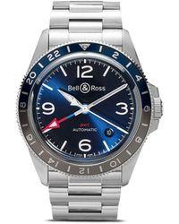 Bell & Ross Br V2-93 Gmt 41mm 腕時計 - ブルー