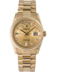 Rolex Наручные Часы Day-date Pre-owned 36 Мм 2000-х Годов - Металлик