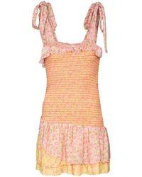 LoveShackFancy Aya Sleeveless Mini Dress - Pink