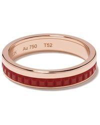 Boucheron Quatre Red Edition セラミック ウェディング リング 18kローズゴールド - レッド