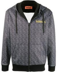 Missoni Herribone Zip-up Hooded Jacket - Black