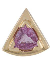 Origin 31 - 9kt Yellow Gold Pink Sapphire Wedge Stud - Lyst