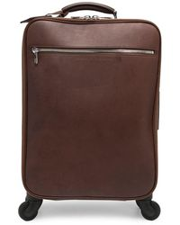 Brunello Cucinelli Grained Leather Wheeled luggage - Brown