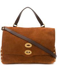 Zanellato Dunia Pebbled Satchel Bag - Brown