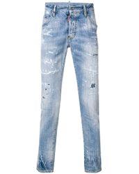 DSquared² - 'skater' Destroyed Jeans - Lyst