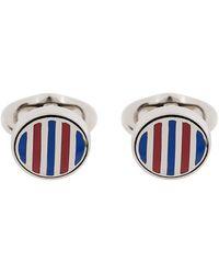 Etro - Striped Cufflinks - Lyst