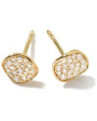 Ippolita - 18kt Yellow Gold Mini Stardust Flower Pave Diamond Studs - Lyst