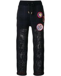 Mr & Mrs Italy - Patched tartan joggers - Lyst