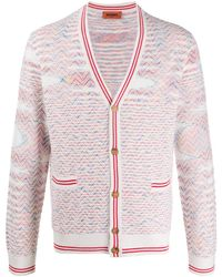 Missoni Embroidered Long-sleeve Cardigan - White