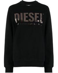 DIESEL F-ang ロゴ スウェットシャツ - ブラック