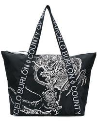 Marcelo Burlon Asier Shopping Bag - Black