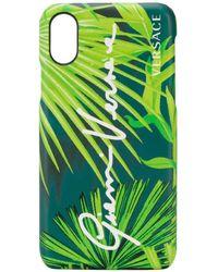 Versace Чехол Для Iphone X С Принтом - Зеленый