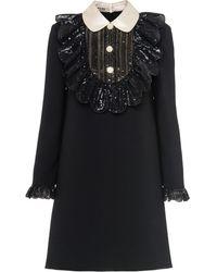 Miu Miu デコラティブ ドレス - ブラック