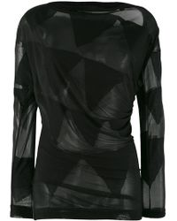 Vivienne Westwood Anglomania - Sheer Bunting Blouse - Lyst