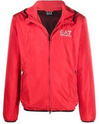 EA7 ロゴ ウインドブレーカー - レッド