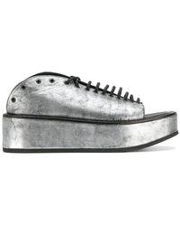 Ann Demeulemeester - Metallic Platform Sandals - Lyst