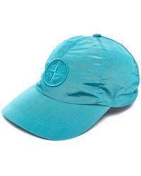 Stone Island Кепка С Вышитым Логотипом - Синий