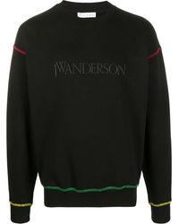 JW Anderson ロゴ スウェットシャツ - ブラック