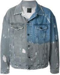 Alchemist Distressed Denim Jacket - Blue