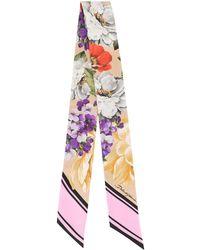Dolce & Gabbana Sjaal Met Bloemenprint - Rood