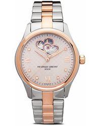 Frederique Constant Наручные Часы Automatic Lady Double Heart Beat 36 Мм - Розовый