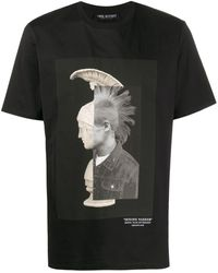 Neil Barrett Mohawk Warrior Tシャツ - ブラック