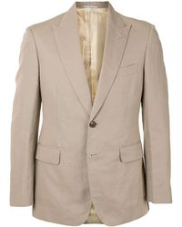 Gieves & Hawkes Single-breasted Fitted Blazer - Multicolour