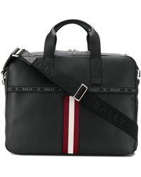 Bally ロゴ ビジネスバッグ - ブラック