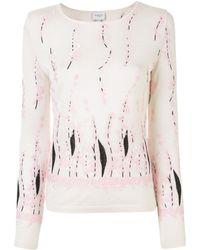 Giambattista Valli Floral-embroidered Sweater - White