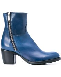 Rocco P Zipped Ankle Boots - ブルー