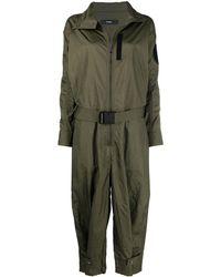 DIESEL Long-sleeved Zip-up Jumpsuit - Green