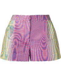 Mary Katrantzou - Zeta Optic Moire Print Shorts - Lyst
