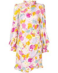 Rebecca Vallance Garda Long-sleeve Mini Dress - Multicolour