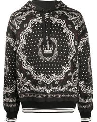 Dolce & Gabbana Худи С Принтом - Черный