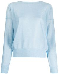 Liu Jo Open-back Lurex Jumper - Blue
