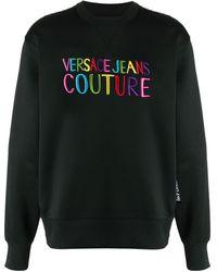 Versace Jeans ロゴ スウェットシャツ - ブラック