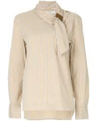 Tibi - Asymmetric Collar Shirt - Lyst