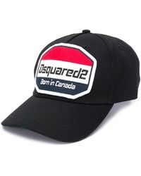 DSquared² Gorra de béisbol con parche del logo - Negro