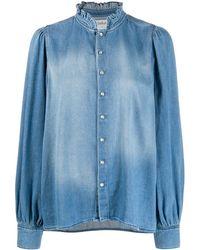 Ba&sh Axelle Denim Shirt - Blue